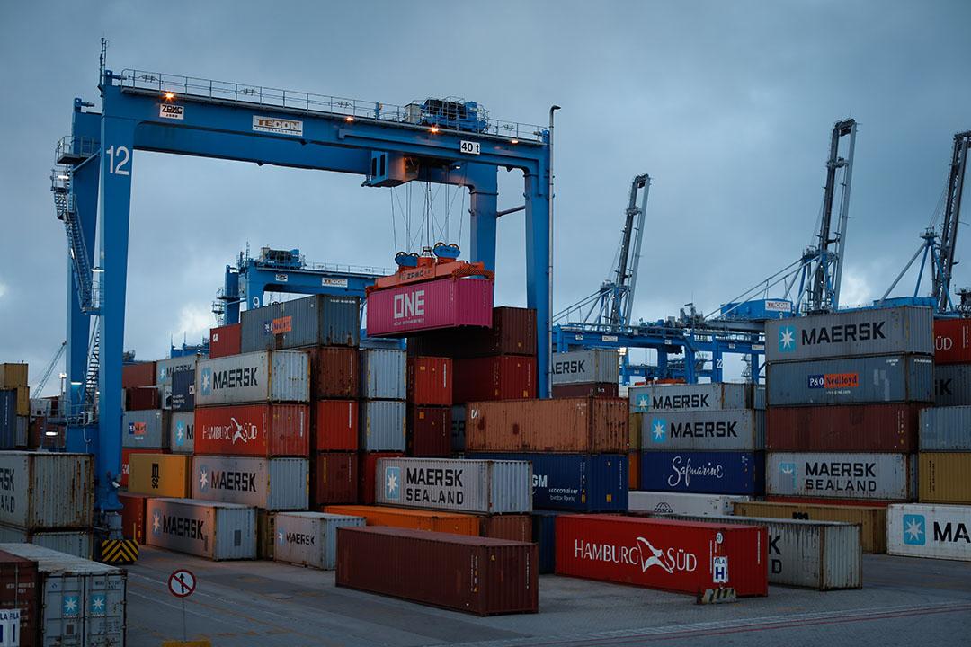 De container terminal van de haven van Rio Grande in het zuiden van Brazilië. Het is de derde grootste haven na de haven van Santos. Foto: Wenderson Araujo/Trilux - Foto: Wenderson Araujo
