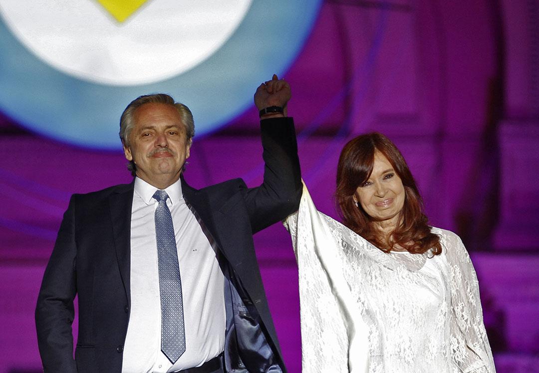 "De nieuwe Argentijnse president Alberto Fernández en vice-president Cristina Kirchner. - Foto: ANP - Foto: ""Emiliano Lasalvia"""