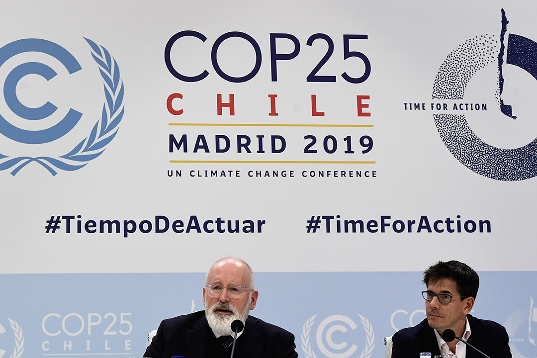 "Frans Timmermans tijdens de klimaatconferentie in Madrid. - Foto: ANP - Foto: ""Cristina Quicler"""