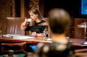 Minister Carola Schouten in de Eerste Kamer. - Foto: ANP -