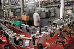 Bonduelle-fabriek in Estrees, Noord-Frankrijk. - Foto: AFP