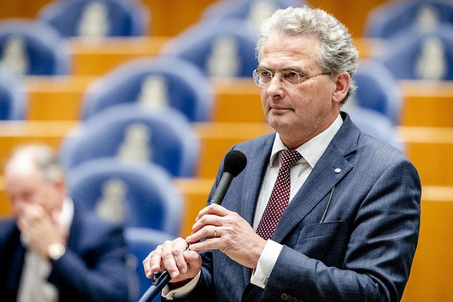 Roelof Bisschop (SGP) tijdens een debat in de Tweede Kamer. Foto: ANP