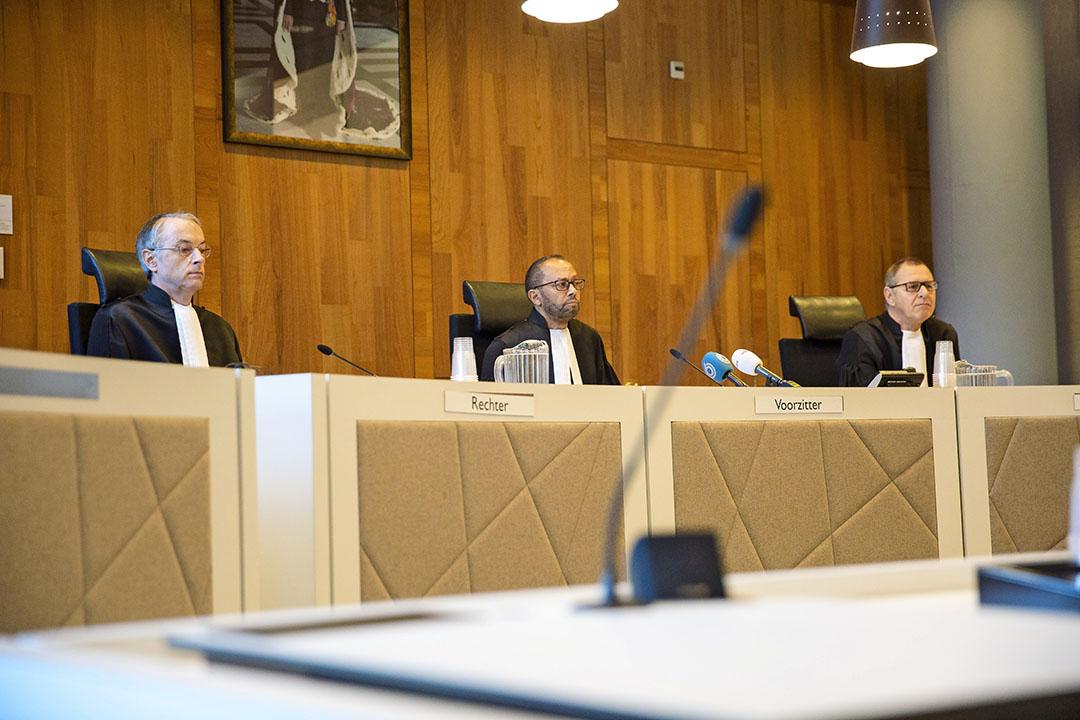 Het College van Beroep voor het Bedrijfsleven in Den Haag, dat op 7 januari uitspraak deed over de mkz-zaak in Kootwijkerbroek. - Foto: Marc Heeman
