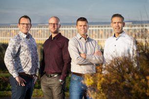 De directie van DOOR, met van links naar rechts: Stefan van Vliet, Erik de Jong, Perry Dekkers en Jan Opschoor. - Photostudio Gerard-Jan Vlekke