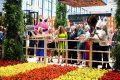 Opening Nederlandse paviljoen met, tussen de kaasmeisjes, (vlnr) Carola Schouten, Eurocommissaris Janusz Wojciechowski en Duitse landbouwminister Julia Klöckner. - Foto: Grüne Woche