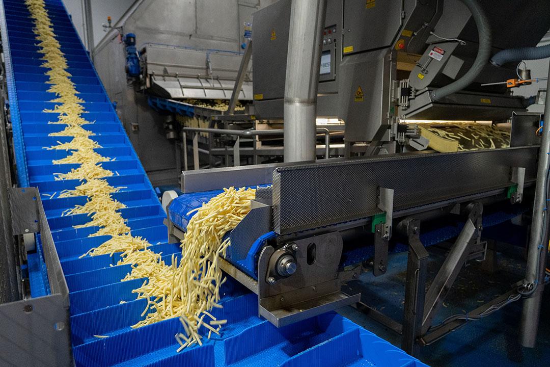 Fritesproductielijn bij Aviko. Telers moeten een inschatting maken van hun kansen op de fritesmarkt, zegt Keimpe van der Heide. - Foto: Jan Willem Schouten