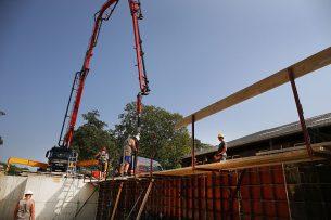 Nieuwbouw van een ligboxenstal. - Foto: Hans Prinsen