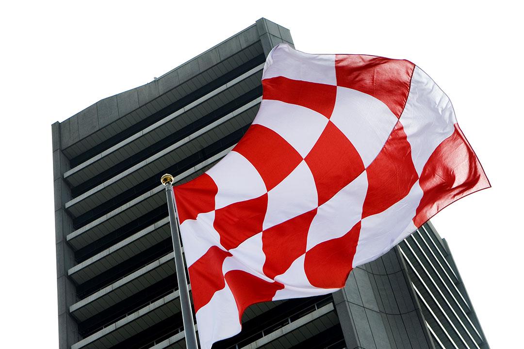 Het Provinciehuis met de vlag van Noord-Brabant. - Foto: ANP