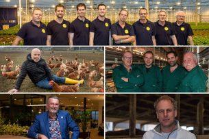 Dit zijn de 5 genomineerden die kans maken op de titel Agrarisch Ondernemer van het Jaar 2020. - Foto's: Peter Roek en Koos Groenewold