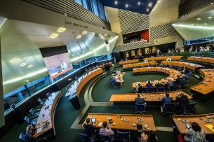 Debat in provinciehuis Brabant. Foto: ANP
