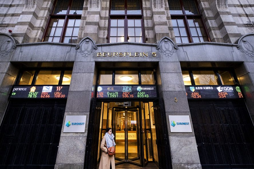 De aandelenbeurs in Amsterdam. - Foto: ANP