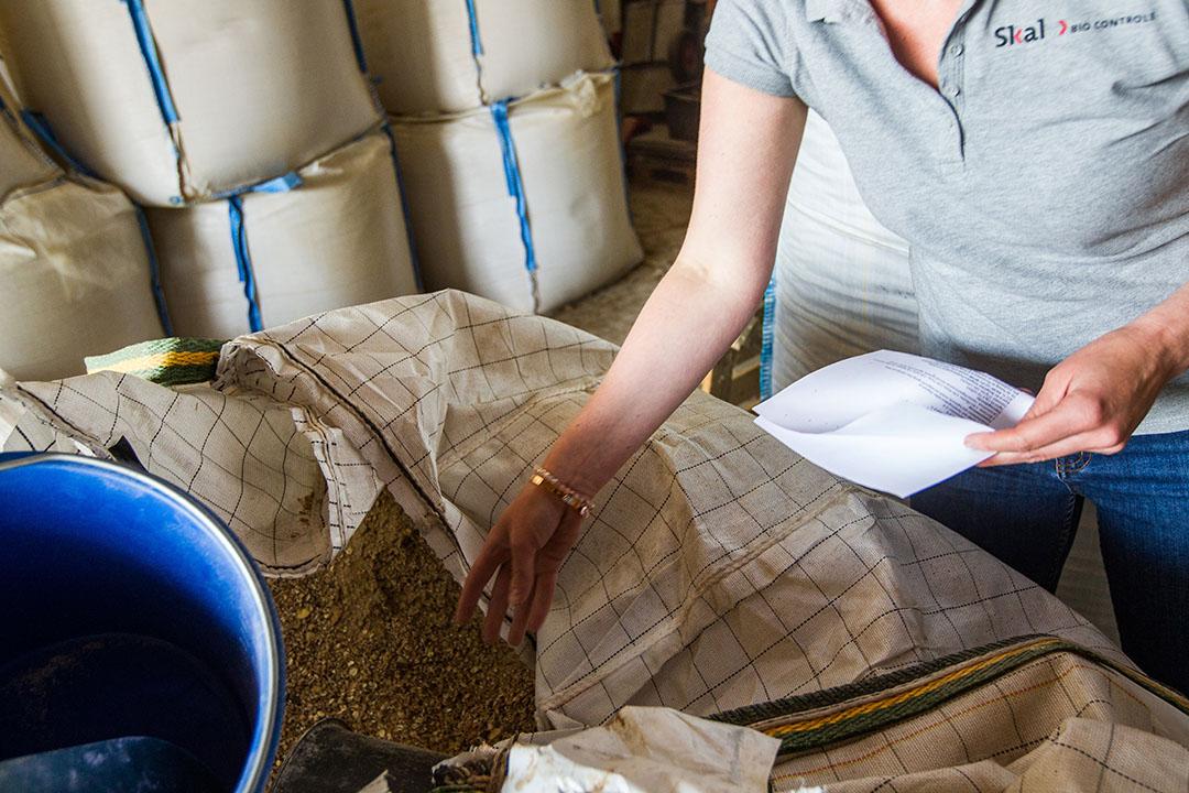 Controle van Skal Biocontrole op biologisch melkveebedrijf. - Foto: Ronald Hissink