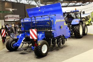 No-till zaaimachine van New Holland. - Foto: Henk Riswick