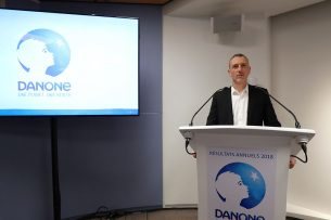 Danone-CEO Emmanuel Faber in 2018. - Foto: AFP