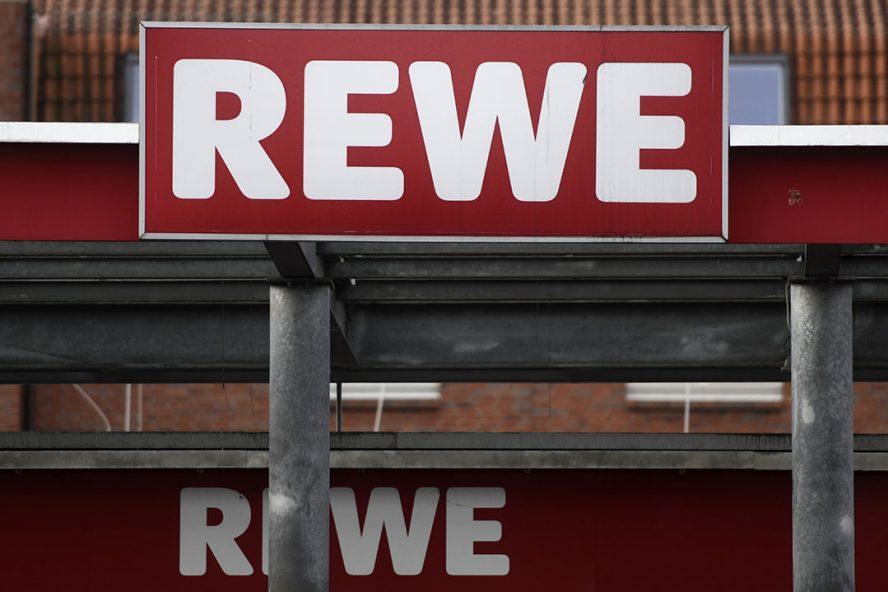 Ingang van Rewe-supermarkt. Foto: ANP