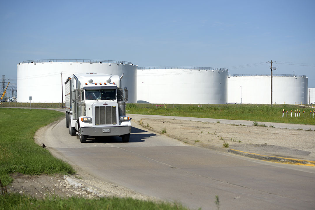 Opslaglocatie voor olie in Houston, Texas. - Foto: ANP