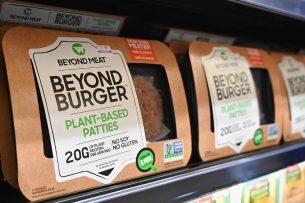 Burgers van Beyond Meat. - Foto: ANP