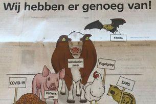 De campagne van Gaia in een Belgische krant. - Foto: Vilt.be