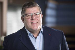 """Jan Cees Vogelaar: """"We willen een sterke landbouwlobby. Het Landbouw Collectief, waar ik nauw bij betrokken was, smaakte naar meer, het bracht boeren weer bij elkaar.""""- Foto: Koos Groenewold"""