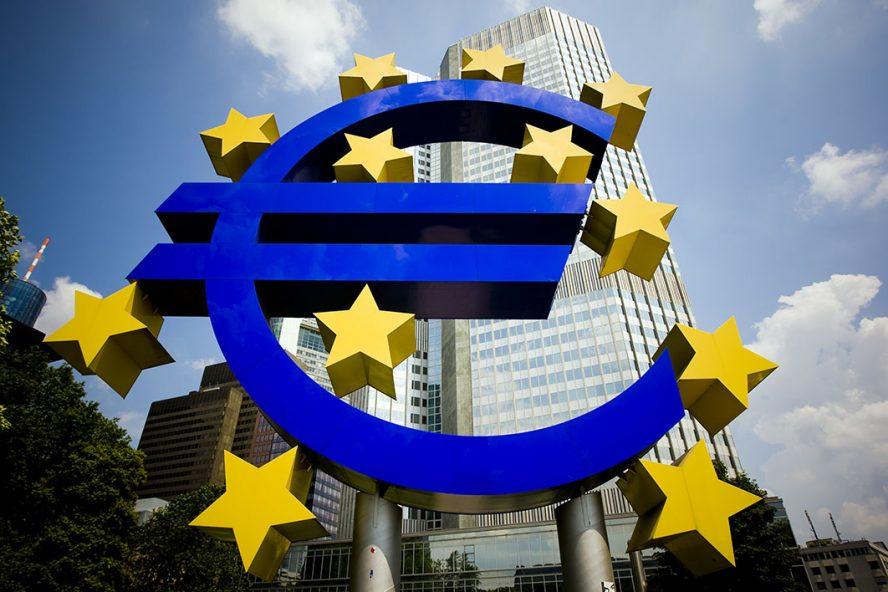 Het gebouw van de Europeese Centrale Bank, ECB, in Frankfurt. Het opkoopprogramma van de ECB om de economische klap veroorzaakt door de coroncrisis in de eurozone op te vangen wordt volop benut. - Foto: ANP