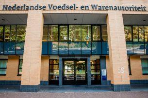 Exterieur van het hoofdkantoor van de Nederlandse Voedsel- en Warenautoriteit (NVWA) in Utrecht. - Foto: ANP
