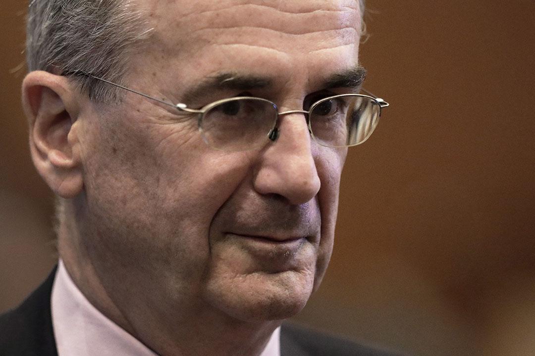 Gouverneur van de Franse centrale bank Francois Villeroy de Galhau. Volgens het ANP en Bloomberg ziet hij in de huidige lage inflatie ruimte om te innoveren en 'snel en krachtig' te handelen. Foto: ANP