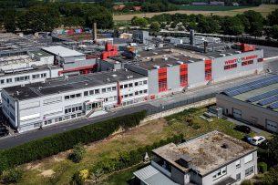 De slachterij van Westlfleisch in Coesfeld. Na ruim 10 dagen stilstand wordt er weer geslacht. - Foto: ANP