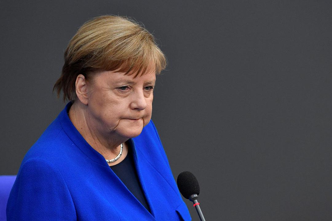 Angela Merkel sprak in het parlement over 'schrikbarende berichten' uit de vleesindustrie. Foto: ANP