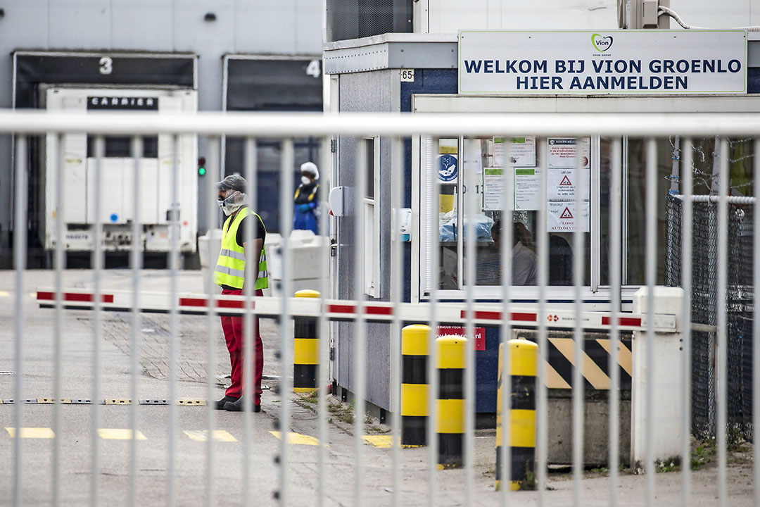 Vestiging van Vion Food Group in Groenlo dat is gesloten vanwege met cornavirus besmet personeel. - Foto: ANP