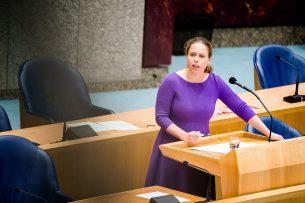Landbouwminister Carola Schouten tijdens het vragenuur in de Tweede Kamer. - Foto: ANP