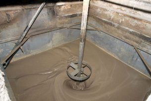 Protiwanze, een in de varkenshouderij veelvuldig gebruikt bijproduct. - Foto: Peter Roek