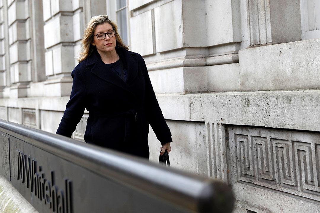 Penny Mordaunt is een fanatiek voorstander van brexit, en is als Paymaster-General in principe minister zonder portefeuille, maar zit wel aan de kabinetstafel. Foto: ANP