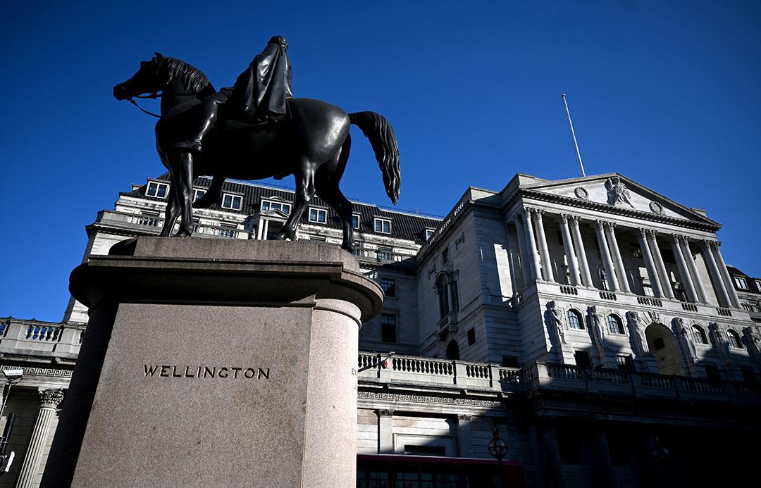 De Bank of England in de Londense City. - Foto: EPA