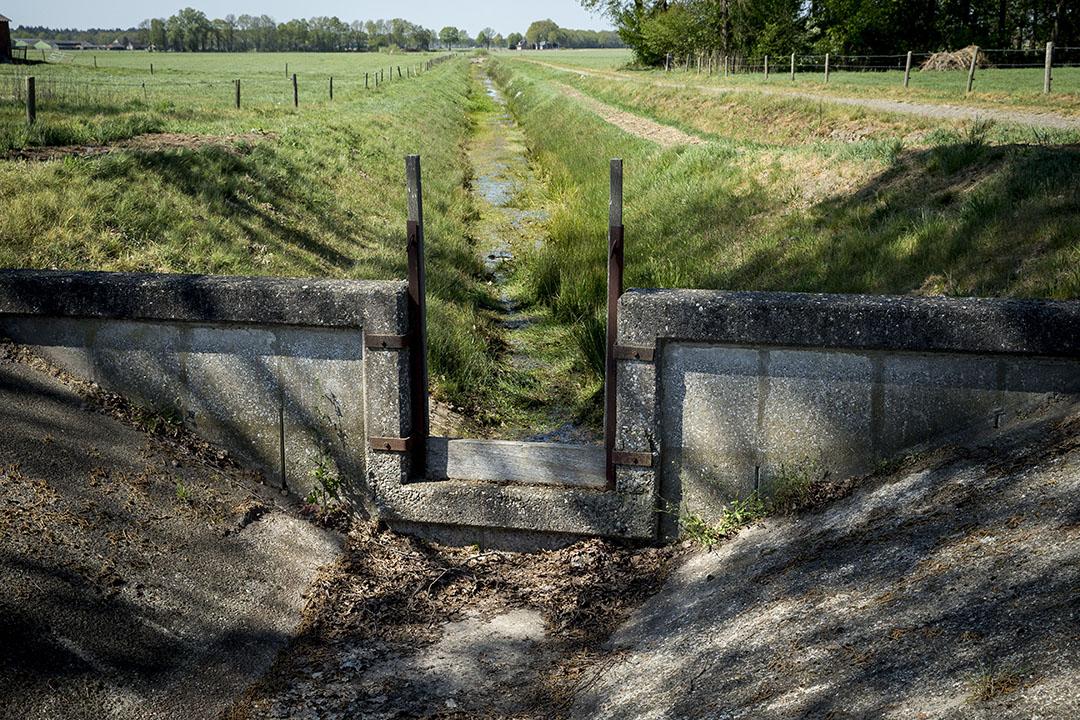 Droge sloten in het landbouwgebied nabij het Overijsselse Haarle. Foto: ANP