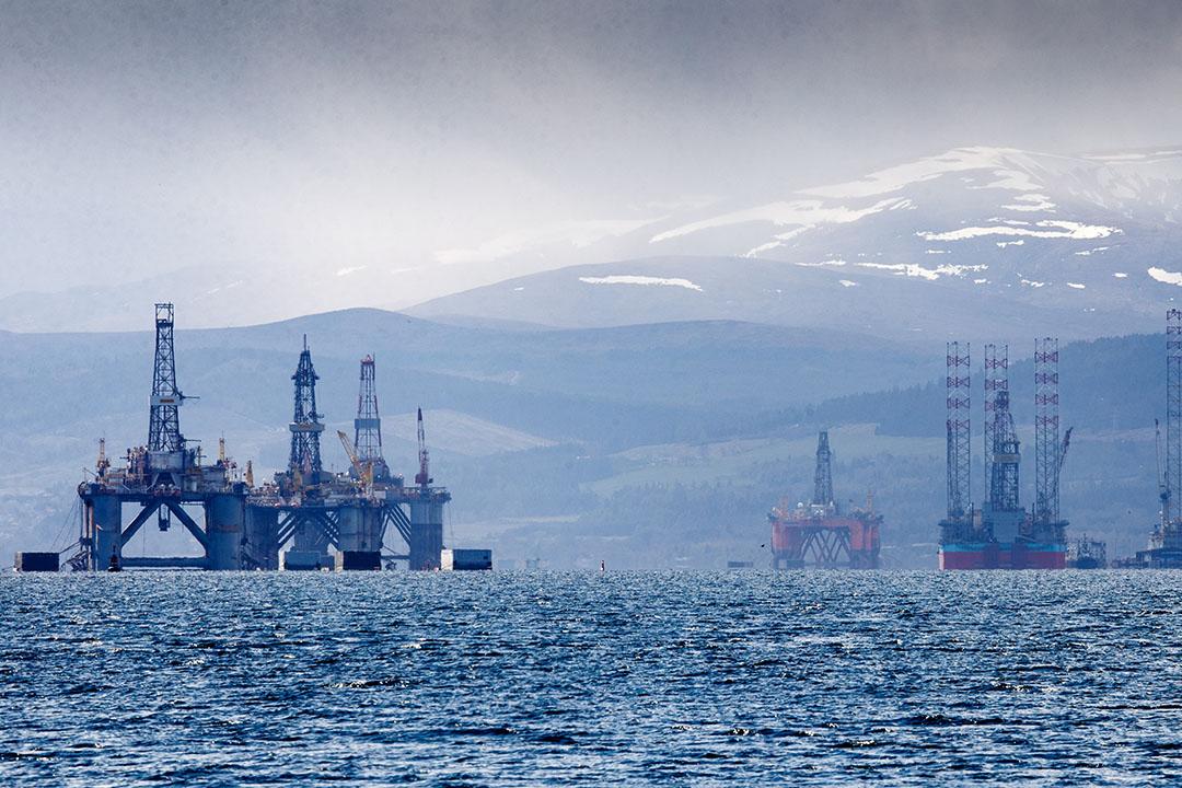 Een booreiland voor de kust van Schotland. - Foto: ANP