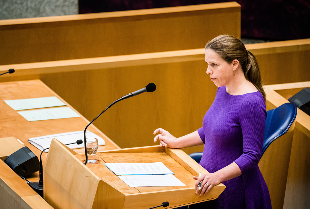 Carola Schouten, minister van Landbouw, Natuur en Voedselkwaliteit in de Tweede Kamer. Op verzoek van de Tweede Kamer werd de internetconsultatie vorige week met een week verlengd.  - Foto: ANP