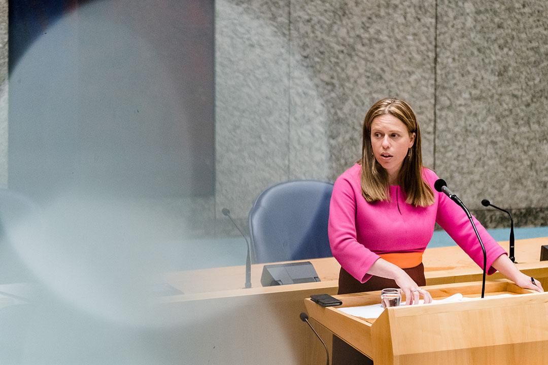 Landbouwminister Carola Schouten tijdens een debat in de Tweede Kamer. - Foto: ANP
