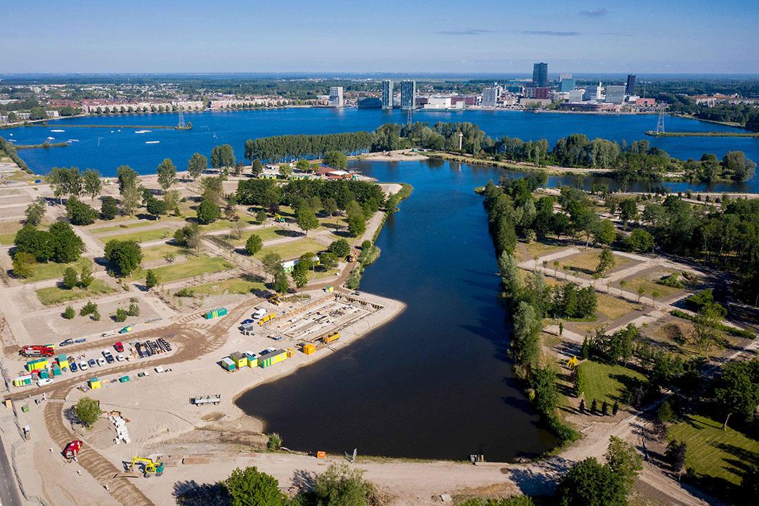 Het terrein in Almere waar de wereldtuinbouwtentoonstelling Floriade 2022 wordt gehouden. - Foto: ANP
