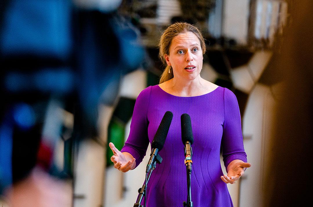 """Landbouwminister Carola Schouten: """"Als we verder willen met vergunningverlening, legaliseren meldingen en woningbouw, moet de stikstofdruk omlaag."""" - Foto: ANP"""