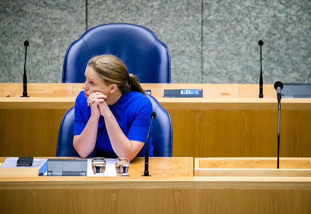 Minister Carola Schouten in de Tweede Kamer tijdens een debat over de gevolgen van de coronacrisis voor de landbouw, natuur en visserij. - Foto: ANP