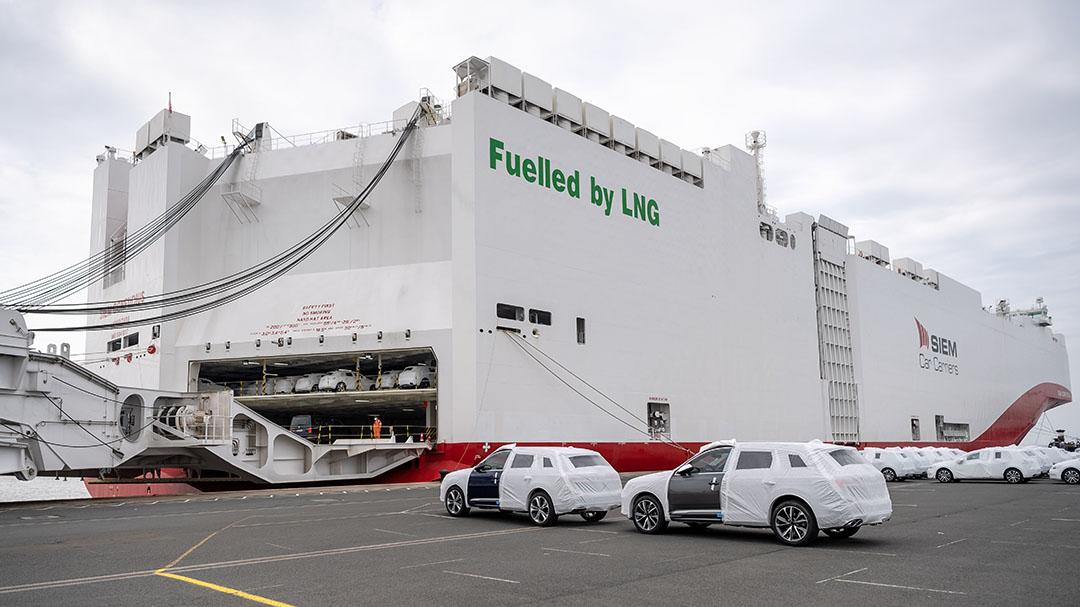 Uit de VS komt nog maar de helft van de schepen met vloeibaar gas. - Foto: ANP