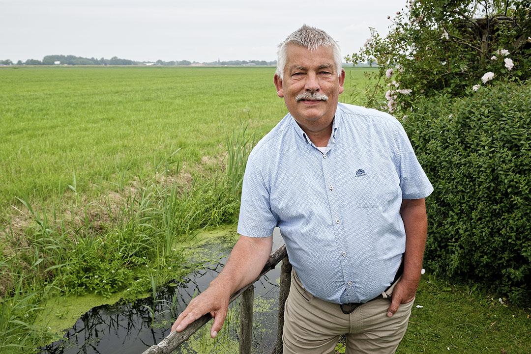 Voormalig LTO-bestuurder en oud-melkveehouder Schenk (65) zit op een geborgde zetel in het Hoogheemraadschap Hollands Noorderkwartier. Foto: Lex Salverda