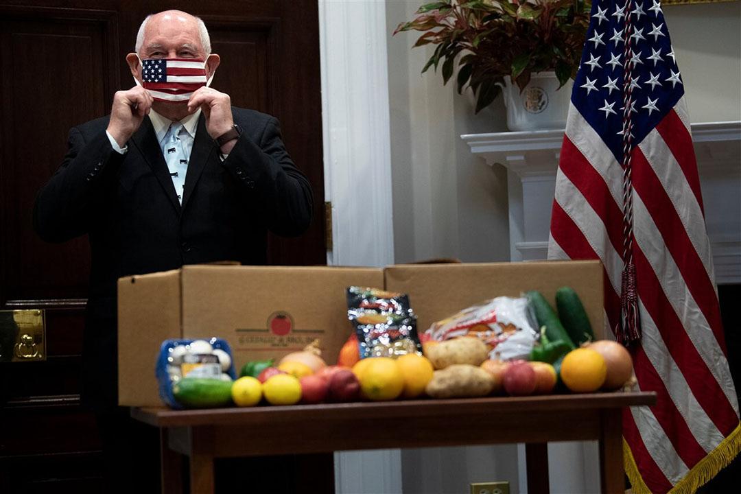 De Amerikaanse landbouwminister Sonny Perdue. - Foto: AFP