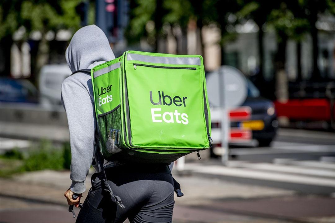 Een bezorger van Uber Eats. Foto: ANP