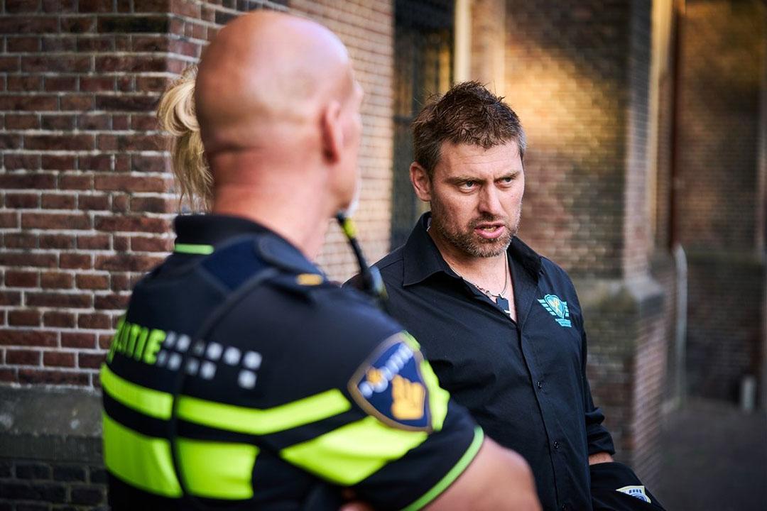Mark van den Oever van Farmers Defence Force op het Binnenhof tijdens het boerenprotest op 2 juli jongstleden. - Foto: ANP