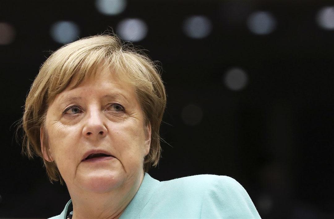 Merkel heeft woensdag van de Britse premier Boris Johnson weer eens te horen gekregen dat de Britten bereid zijn van de onderhandelingstafel weg te lopen als er niet snel resultaten worden geboekt. Foto: EPA