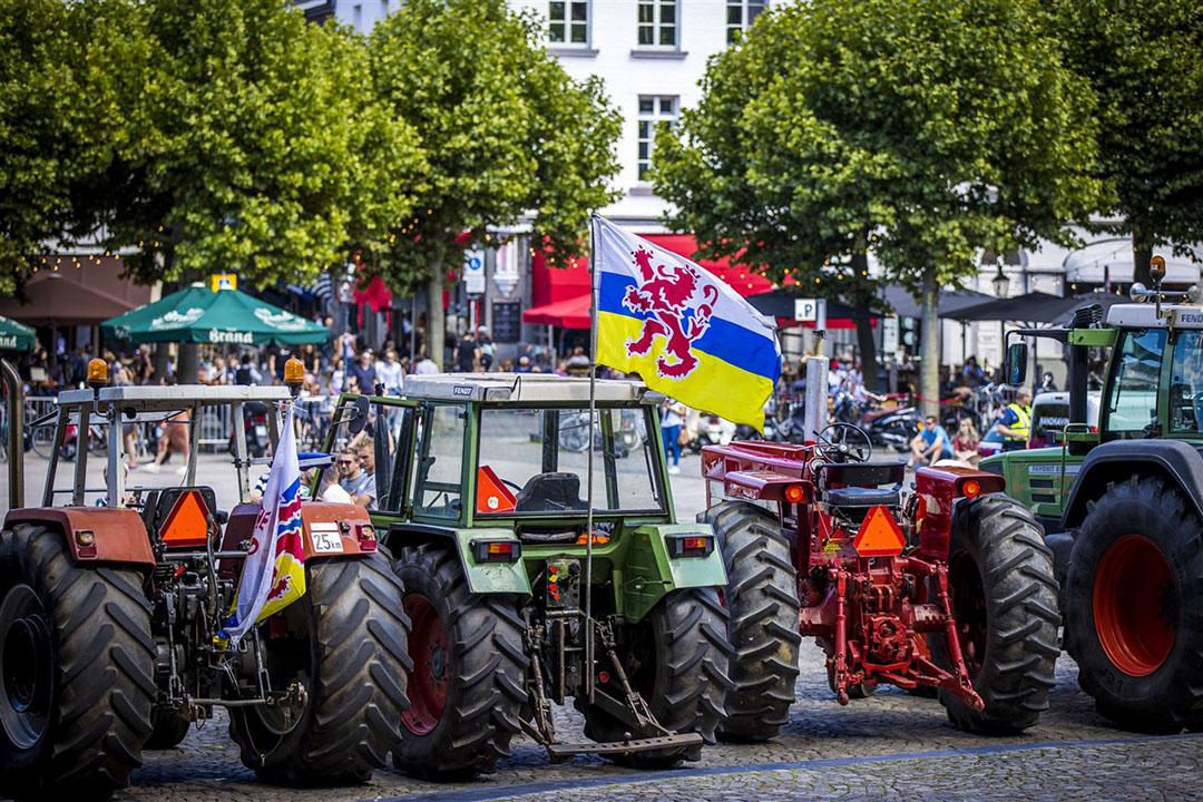 Boeren demonstreerden afgelopen weekend op het Vrijthof in Maastricht. - Foto: ANP
