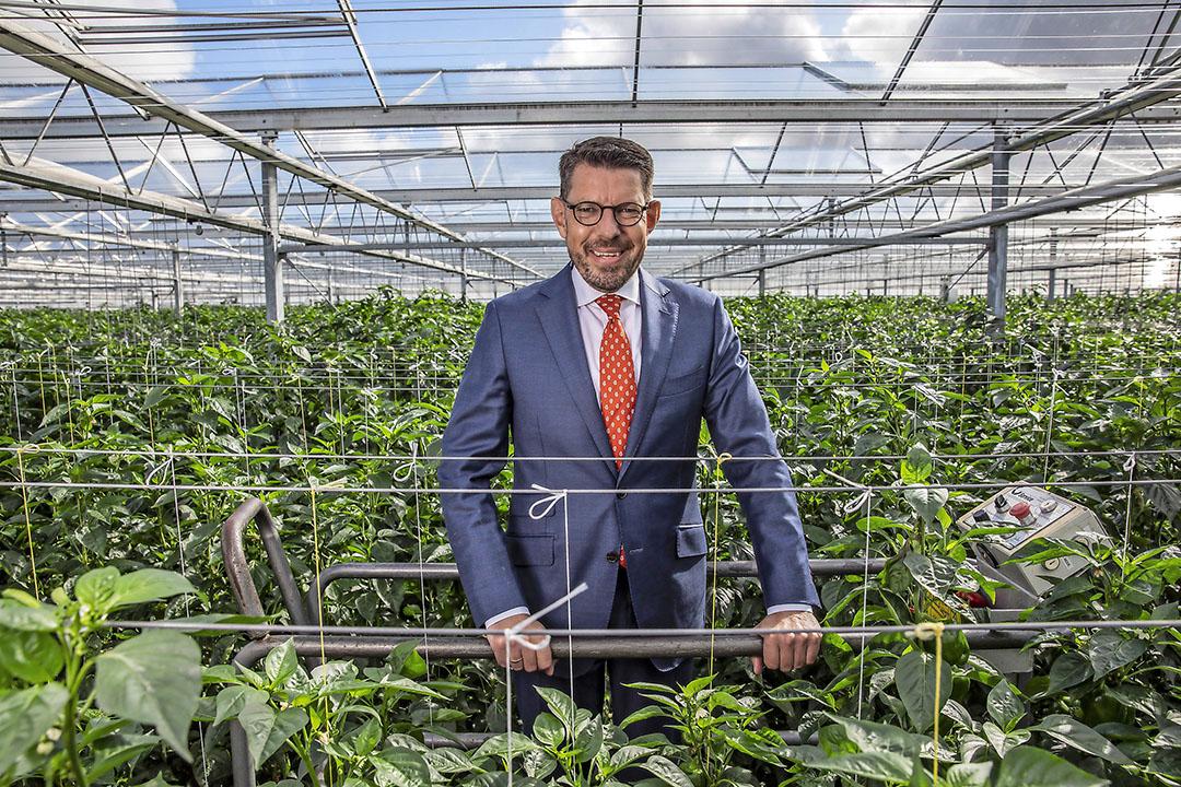 Bouke Arends, burgemeester van tuinbouwgemeente Westland. - Foto: Thierry Schut