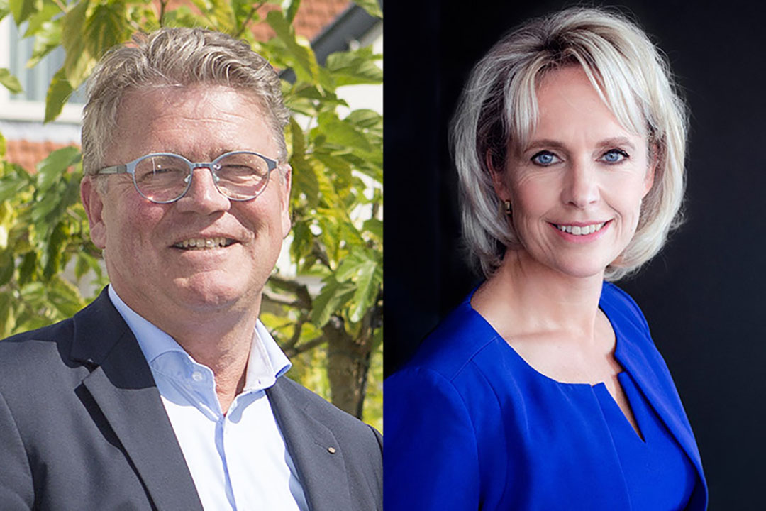 Links op foto: Jorrit Jorritsma is sinds 2014 voorziitter van ZuivelNL. Rechts op foto: Janine Luten die na 16 maanden vertrekt bij ZuivelNL. - Foto's: Ton Kastermans/IMPHOTOGRAPHY