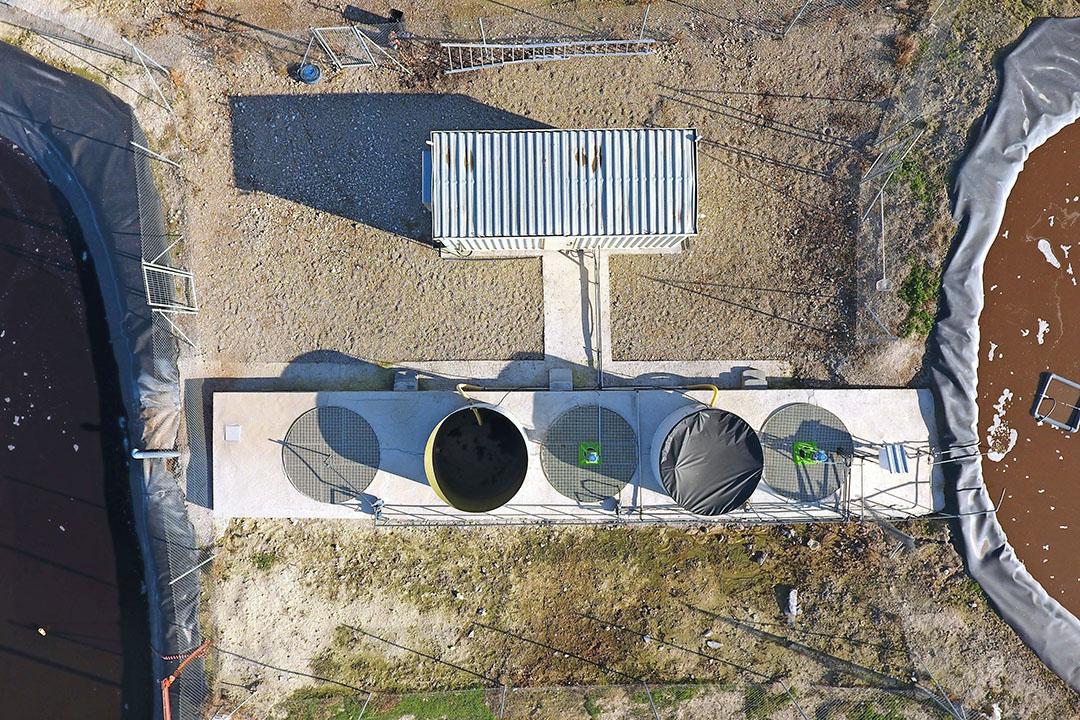 Een luchtfoto van de DFS-installatie in Spanje. - Foto: DFS
